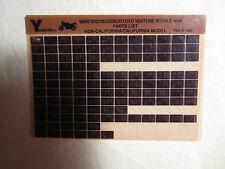 1987 1986 Yamaha Motorcycle XVZ 13 DS DSC DT DTC Microfiche Part Catalog Ventur