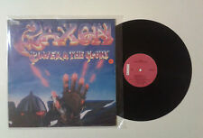 """Saxon """"Power & the glory"""" LP CARRERE CRE 25330 Italy 1983 VG+/VG"""