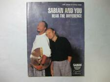 Sabian and You Cymbal Percussion 1989 Catalog Phil Collins Carmine Vinnie Appice
