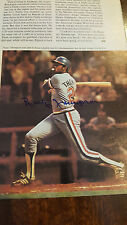 BOBBY THOMPSON SIGNED SPORTS ILLUSTRATED SI PHOTO TEXAS RANGERS 1978 DEBUT RARE