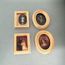 dolls house pictures portraits set of 4 new 1/12th scale