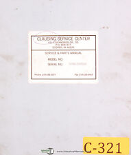 """Operations Maintenance /& Parts Manual 1969 Lathes 508086 /& Up Clausing 12/"""""""