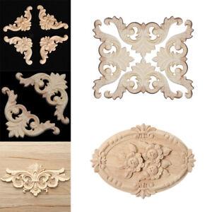 Holz Verzierung Schnitzerei Ornament Tür Schrank Ecke Möbel Deko Blumen Sets