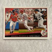 Jones Pujols Holliday 2008 National League Leaders Topps MLB Baseball Card