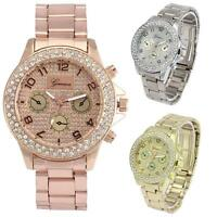 Geneva Women Watch Luxury Rhinestone Ladies Dress Watch Quartz Analog Wristwatch