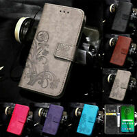 Pattern Leather Magnetic Wallet Flip Case Cover For Moto G6 G7 Play G7 Power
