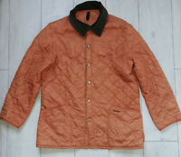 "Barbour Liddesdale ""L"" Orange Quilted Mens Jacket Herren Jacke"