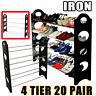 20 Pair Shoe Rack 4 Tier Storage Organizer Holder Tower Wall  Bench Shelf Closet
