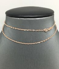 14K Solid Rose Gold Marier Chain 18 Inches