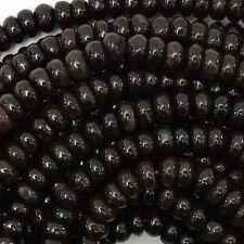 """8mm red garnet rondelle beads 15.5"""" strand"""