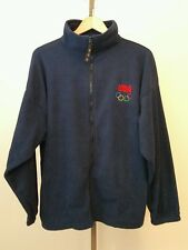 United States Olympic Committee USA Dark Blue Fleece Zip Front Jacket Size XL