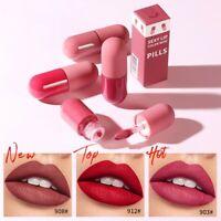 Capsule Lipstick Waterproof Long Lasting Women Ladies Cosmetic Makeup Lipstick
