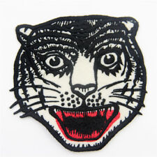 Cat/Tiger Head Smile Red Mouth Embroidery Motif Applique Cotton Patches Sew on