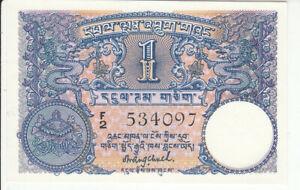 Bhutan 1 Ngultrum 1974 Pick 1 UNC