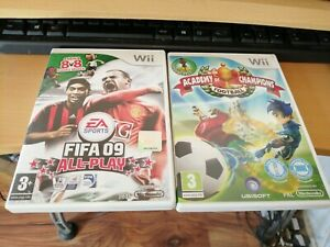 2 wii GAMES academy of champions football fifa 09 all play pele rooney freepost