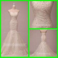 Satin Sleeveless Mermaid & Trumpet Wedding Dresses
