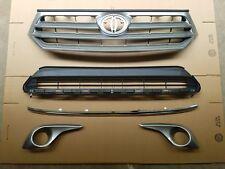 fit 2011-2013 HIGHLANDER Front Bumper Upper Lower Grille Fog Light Bezel SET 5PC