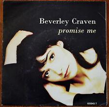"""Beverley Craven – Promise Me 7"""" – 655 943 7 – Ex"""