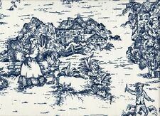 NEW 2 French Country Toile Nautical Blue King Shams Cotton Lined