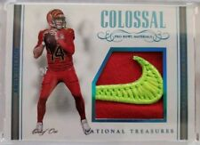 2017 NATIONAL TREASURES COLOSSAL PRO BOWL MATERIALS NIKE PATCH ANDY DALTON #1/1