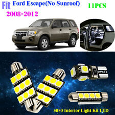 11Pc 5050 LED HID White Interior Light Kit For 2008-2012 Ford Escape(No Sunroof)