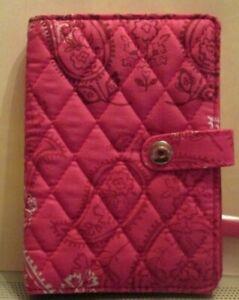 Vera Bradley Travel Wallet STAMPED PAISLEY Passport Cotton NWT $44