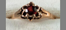 Ladies Victorian Garnet 10K Gold Ring Ca 1880