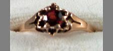 Ladies Victorian Garnet 10K Gold Ring Ca 1880