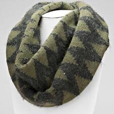 Furry Green Chevron Infinity Sweater Scarf