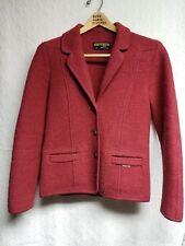 GEIGER Cardigan Sweater Jacket. Women 38, S. 100% Boiled Wool. Austria. Vintage.