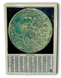 Map Lunar Embossed Plastic Rico Florence 60's Tribute the Time Vintage