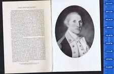General George Washington in 1787, Portrait by C.W. Peale - 1954 Print