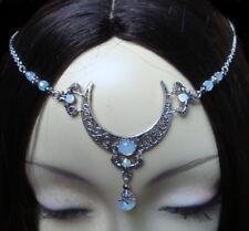 ^v^Tiara*Moonflower*Circlet*Gothic*wicca*Celtic*moonstone*Stirnschmuck*pagan^v^