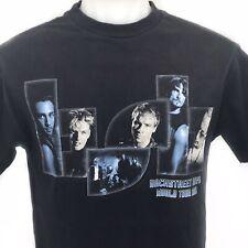 Backstreet Boys Black Blue World Tour 2001 Mens Medium Concert Tshirt BSB USA