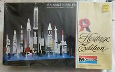 New listing 1983 Monogram #6055 U.S Space Missiles (Heritage Edition) 1/128 Scale Kit New