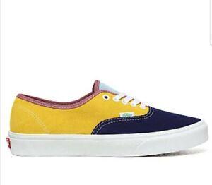 Vans Authentic Skate Shoes Sunshine Muilt-Color Blue Red US MEN SIZE 11