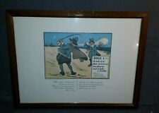 VINTAGE GOLF PRINT CHAS CROMBIE-THE RULES OF GOLF-1960'S PERRIER FRAMED RULE 1