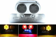 SMOKE Motorcycle LED Tail Light w/ Turn Signals For Yamaha Cafe Racer Project