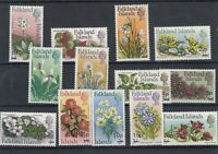 Falkland Islands QEII 1971 Flowers Decimal Surcharge Set MNH J6271