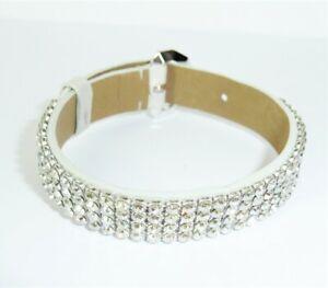 Authentic SWAROVSKI Bracelet Leather Rhinestone Accessory USA Seller
