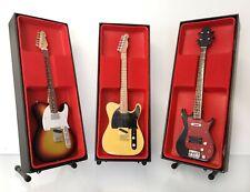 Rolling Stones 1970s (Richards, Wyman, Wood) - Miniature Guitar Sets (UK Seller)