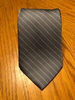 Brooks Brothers Silk Tie Gray & Blue Striped Design