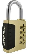 """Wordlock PL-056-SL 4-Dial  38 mm Combination Lock gold color """"BRAND NEW"""""""