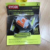 Ryobi 2 In 1 Pivoting Fixed Line & Bladed Head AC052N1 New 18V Auto Feed Trimmr