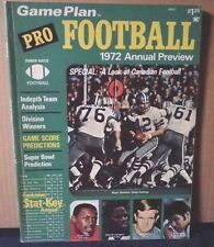 1972 Pro Football GAME PLAN excellent condition