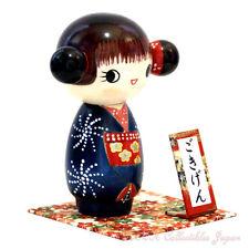 Lovely Japanese Kokeshi Doll GOKIGEN (HAPPY GIRL) by Chie Tamura #087