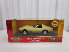 1:18 scale 1968 Chevrolet Corvette Coupe 50th Anniversary Ertl American Muscle