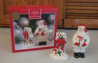 Lenox Salt & Pepper Shakers Countdown till Christmas Santa and Mail Box NIB