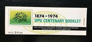 MAD388) Australia 1974 UPU Centenary Booklet (Right Staple)