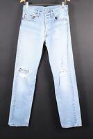 Vintage 80s LEVI'S 501 Button Fly Denim Jeans USA Mens Size 33x40 Actual (30x36)